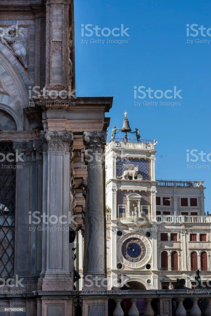 Architecture of St. Mark's square, Venice, Italy stock photo