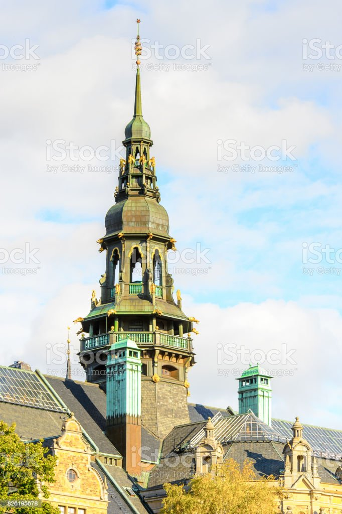 Architecture of Stockholm, Sweden stock photo