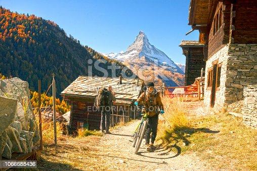 istock Architecture of Switzerland near Matterhorn 1066688436