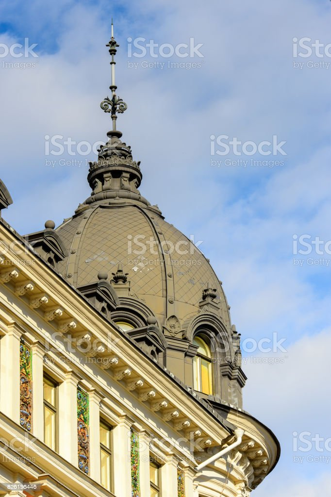 Architecture of the centre of Stockholm, Sweden stock photo