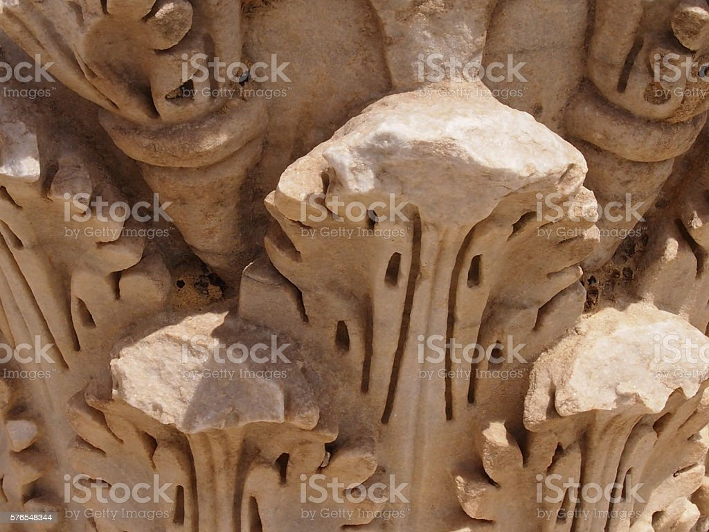 Architecture of the destroyed Carth stock photo