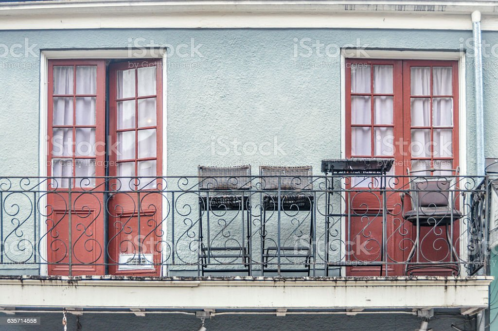 Architecture of the French Quarter in New Orleans, Louisiana royalty-free stock photo