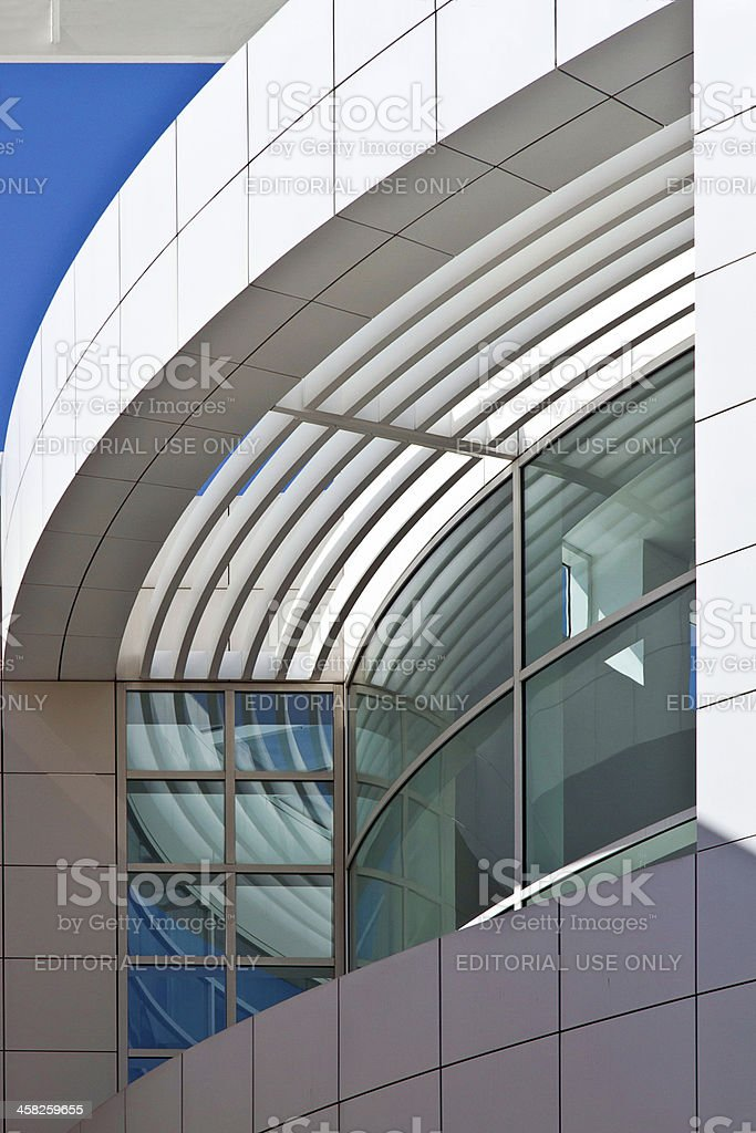 architecture of the Getty Center in Los Angeles stock photo