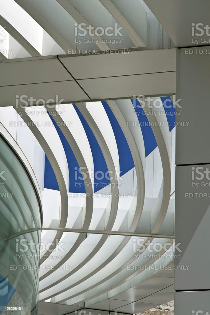 Architecture of the Getty Center, Los Angeles stock photo