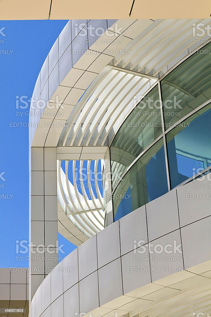 architecture of the Getty Center stock photo