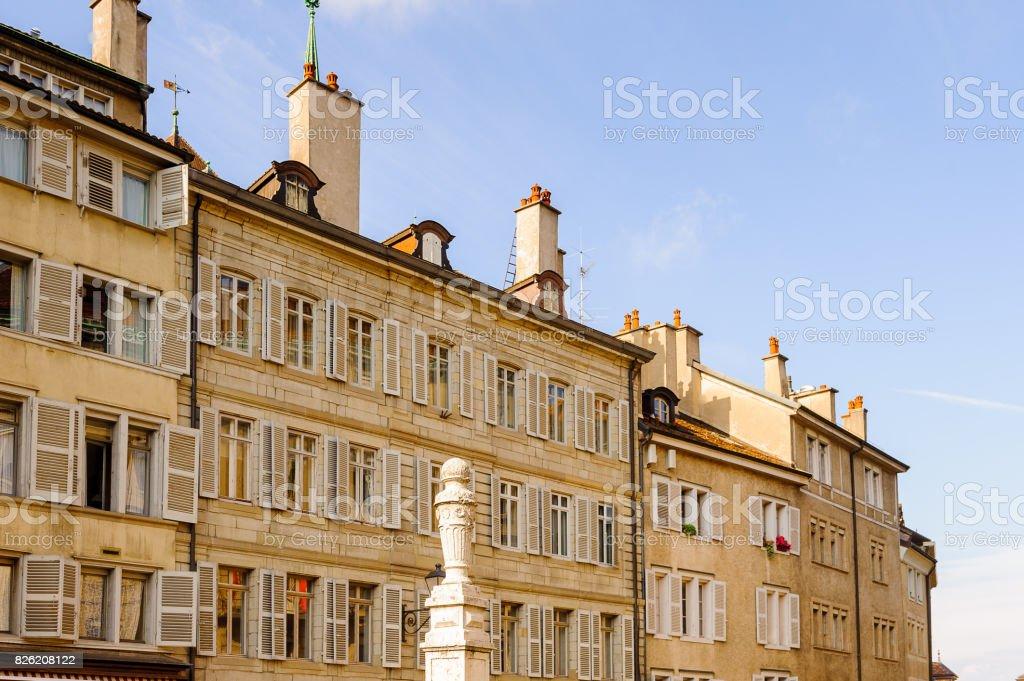 Architecture de la vieille ville de Genève, Suisse. - Photo