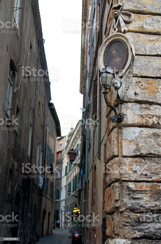 Architecture of the streets of Rome royalty-free stock photo