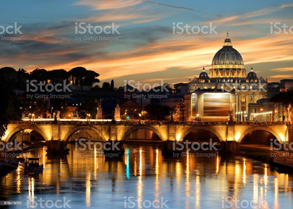 Architecture of Vatican stock photo
