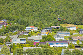 Architecture of Vossevangen. Vossevangen, Western Norway, Norway.