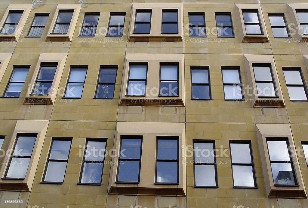 Architecture - Office windows stock photo
