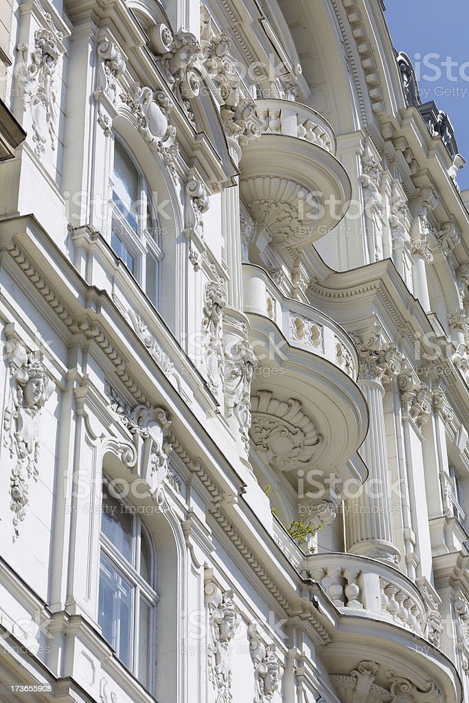 Architecture old townhouse royalty-free stock photo