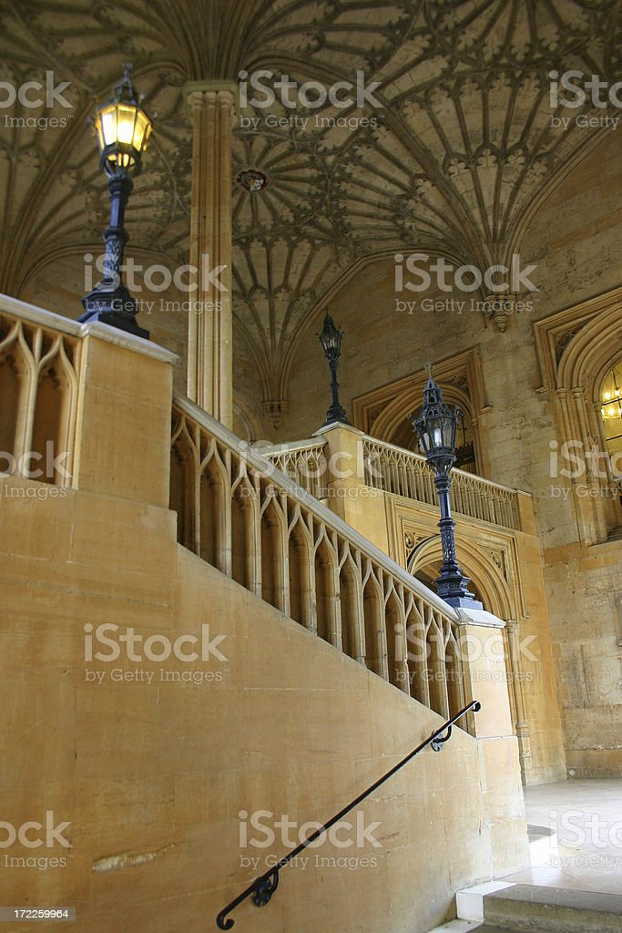 Architecture: Ornate Staircase stock photo