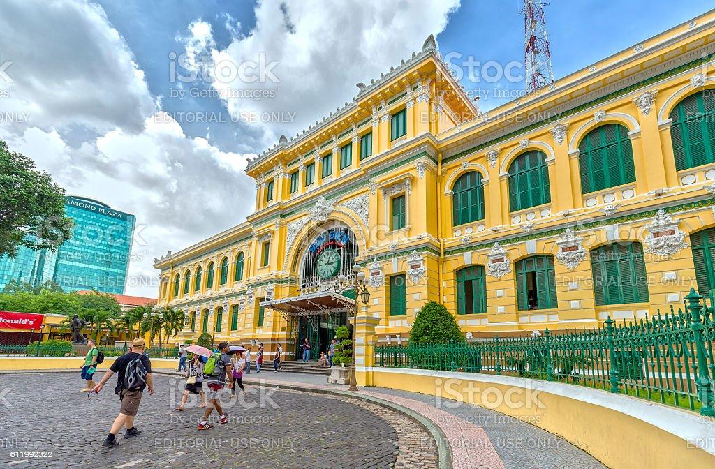 Architecture Outside Saigon Central Post Office Stock Photo