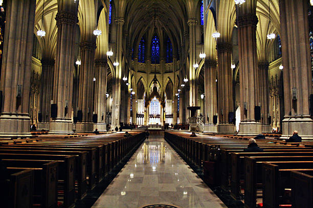 architecture st patrick's cathedral pulpit stock pictures, royalty-free photos & images