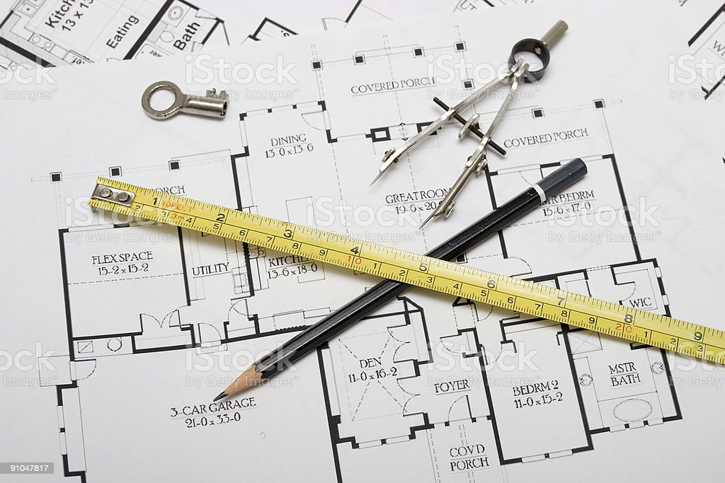 Architecture planning royalty-free stock photo