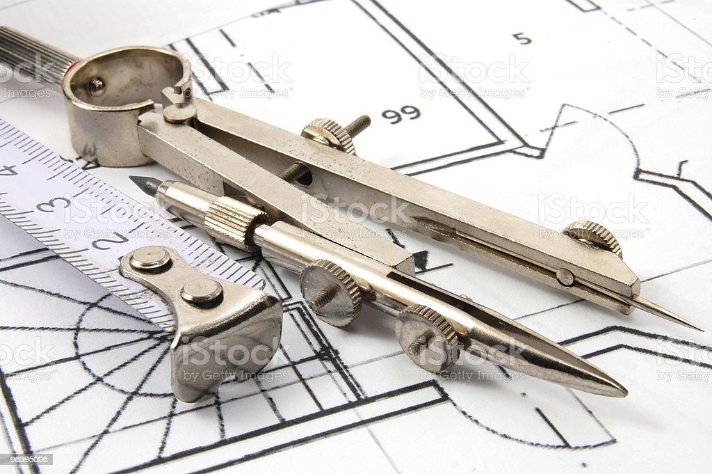 architecture plans - Royalty-free Architect Stock Photo
