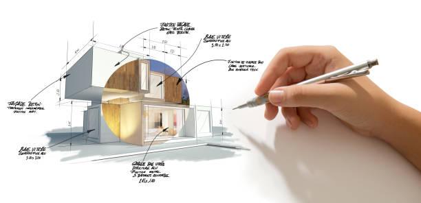 Architecture project customization stock photo