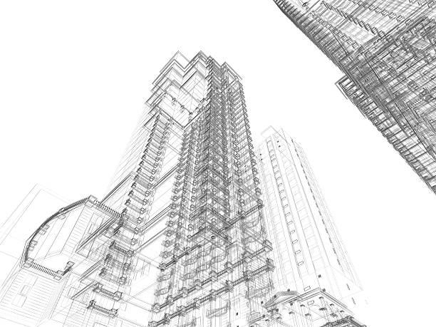 Architektur Skizze – Foto