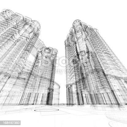 184405668 istock photo Architecture Sketch 168492360