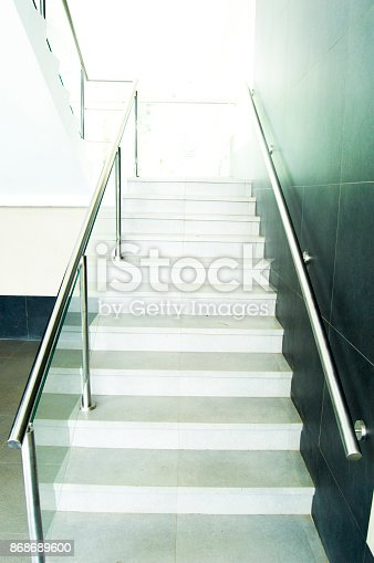533437662 istock photo Architecture stairs to the light 868689600