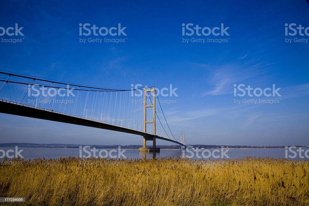 architecture Suspension Bridge royalty-free stock photo