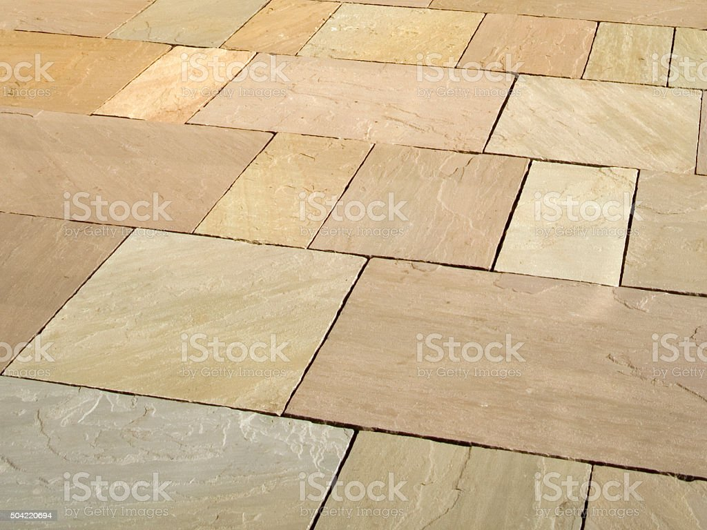 Architecture texture - New stone slab pavement full frame background stock photo