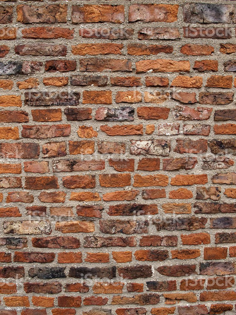 Architecture Texture Rustic Red Brick Wall Background Stock Photo