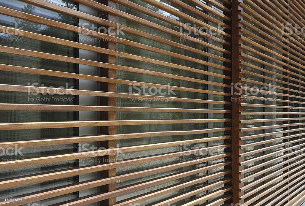 Architecture - Timber Screen stock photo