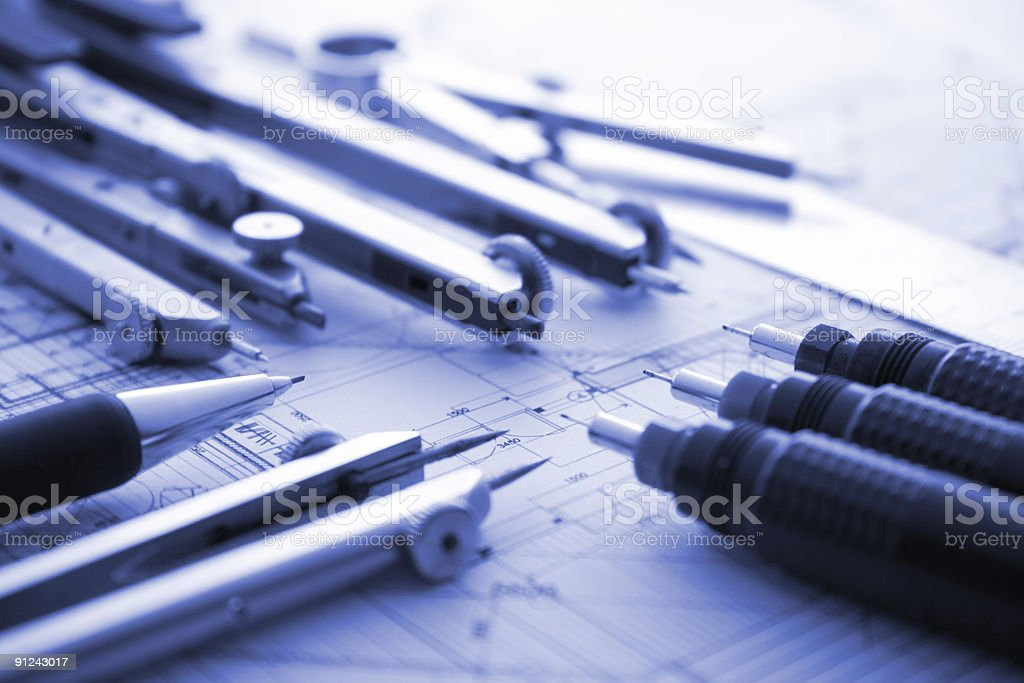 architecture tools royalty-free stock photo