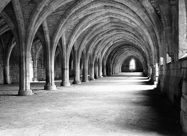 architecture - vaults late century 1100 - crypt stock pictures, royalty-free photos & images
