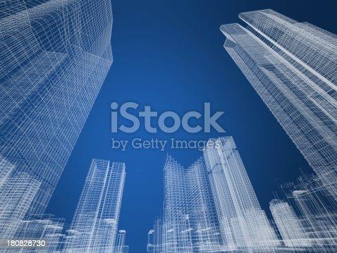 507211101istockphoto architecture Wire Frame 180828730