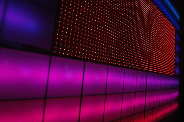 Architettura con pannelli rosa - foto stock