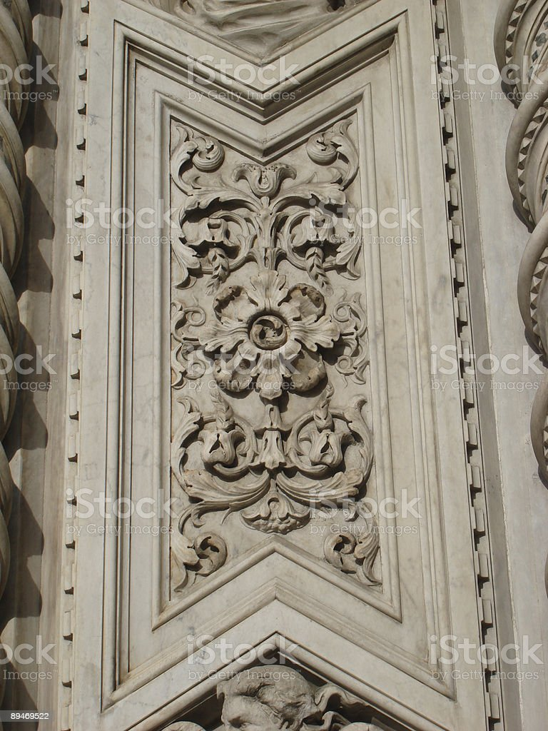 Architectureal Detail in Tuscany royalty-free stock photo