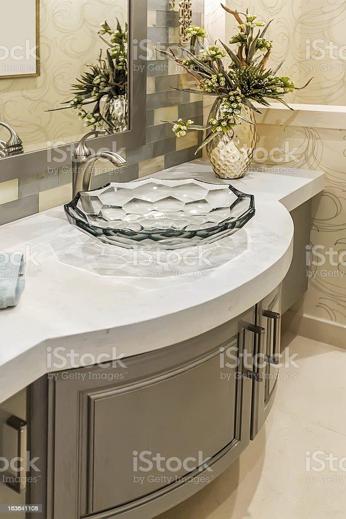 Architecture:Beautiful Bathroom stock photo