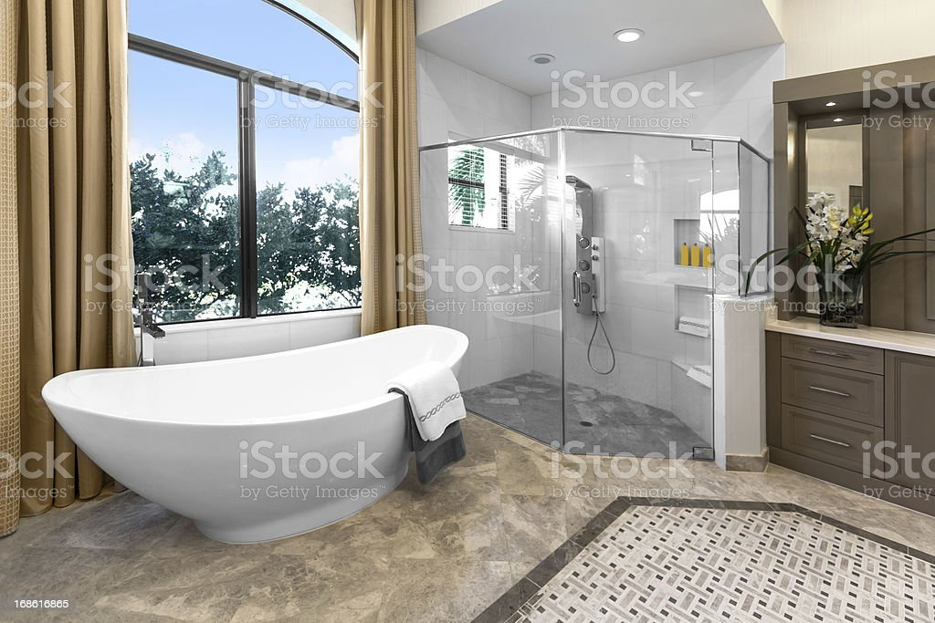 Architecture:Beautiful Bathroom stock photo