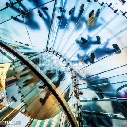 180698194istockphoto Architecture,Footprints on Modern Glass Staircase 181893414