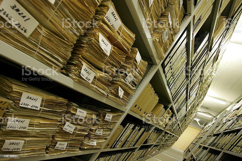 Archiv royalty-free stock photo