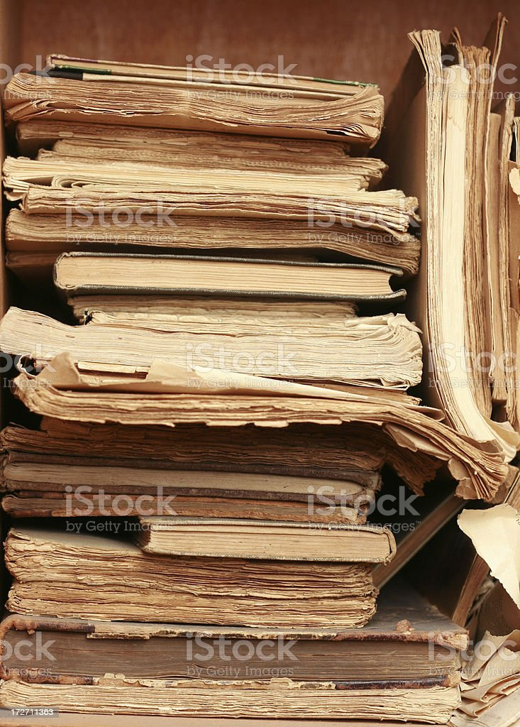 Archival papers royalty-free stock photo