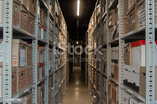 Archival Storage - Row of Archival Boxes
