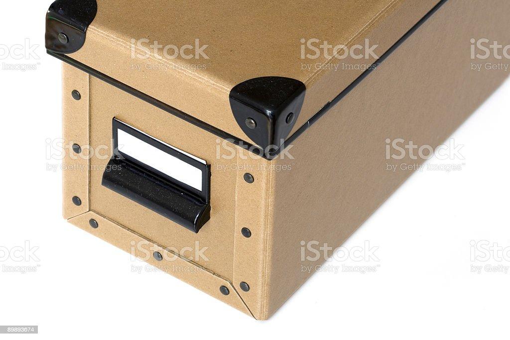 Caja de archivo foto de stock libre de derechos