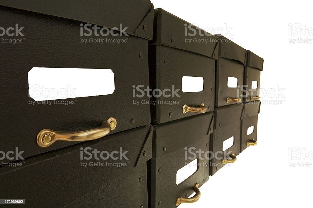 Archive Boxes royalty-free stock photo