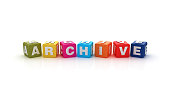 istock Archive Buzzword Cubes - 3D Rendering 956886204