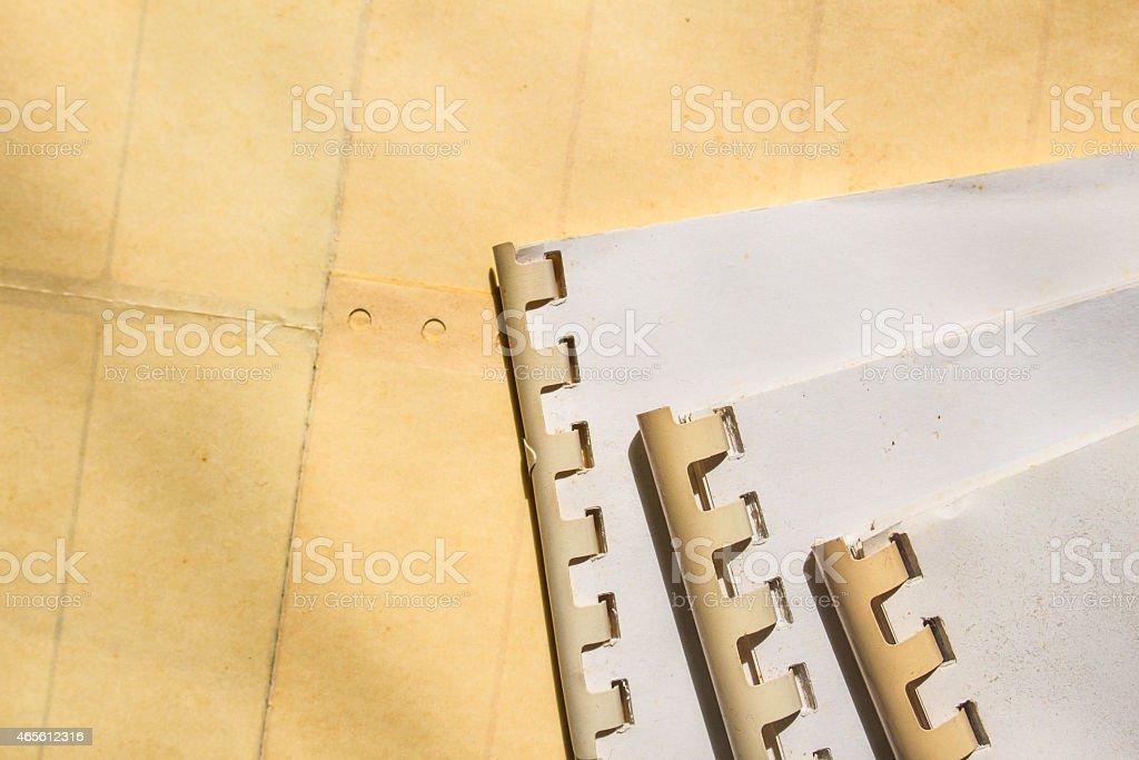 Archive files on floor stock photo