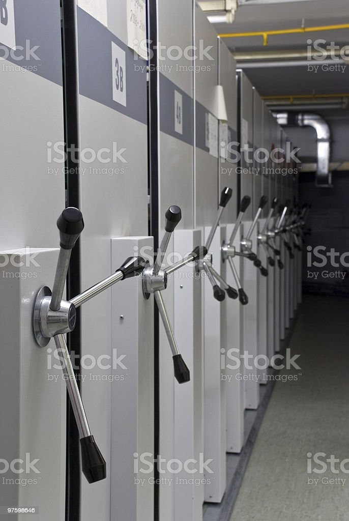 Archive of long-term storage royalty-free stock photo