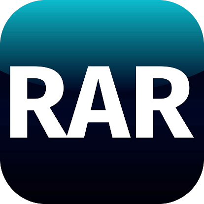 istock Archive rar blue icon for apps 524298789