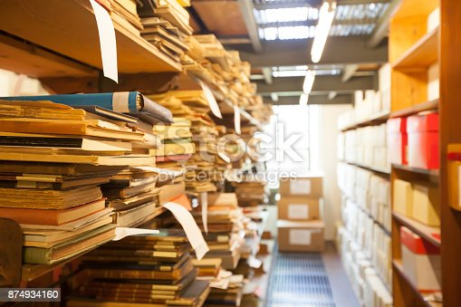 istock archive storage, old documents 874934160