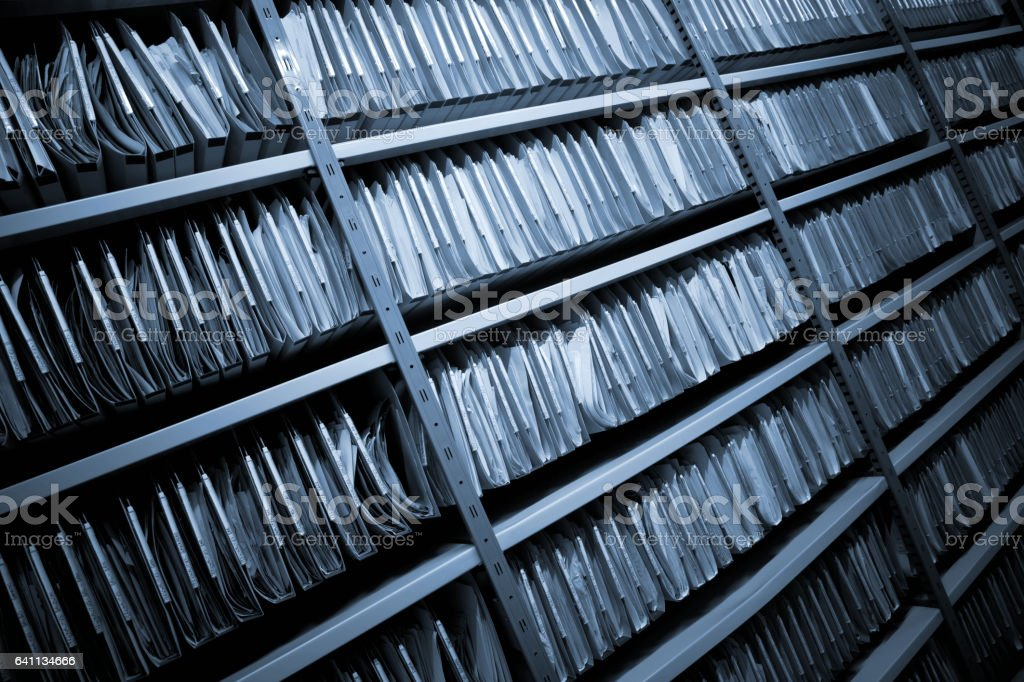 Archive with Folders Archive with Folders Accessibility Stock Photo