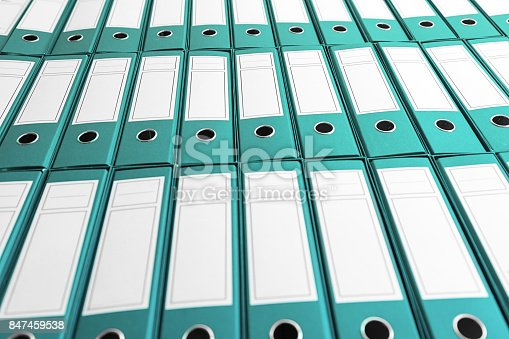 istock Archive with many binders on shelf 847459538