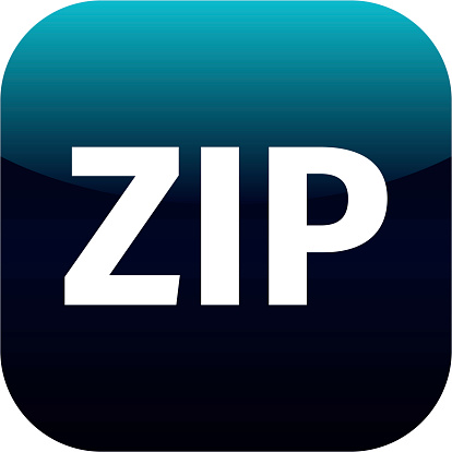 istock Archive zip blue icon for apps 524298487
