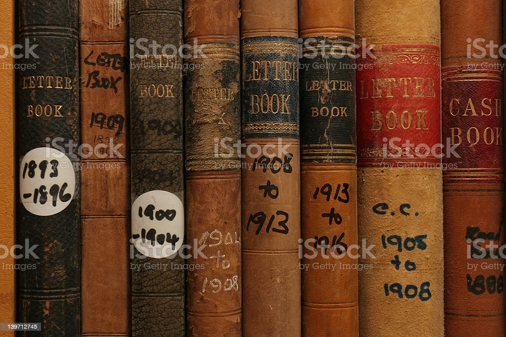 Archived Company records royalty-free stock photo